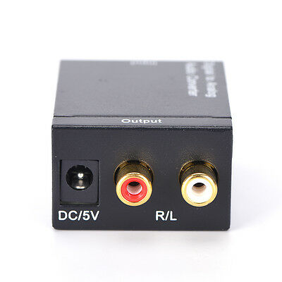Optical Coaxial Toslink Digital to Analog Audio Converter Adapter RCA L/R 、New