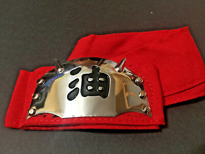 USA Seller Naruto Jiraiya Gama Sennin Red Headband Cosplay