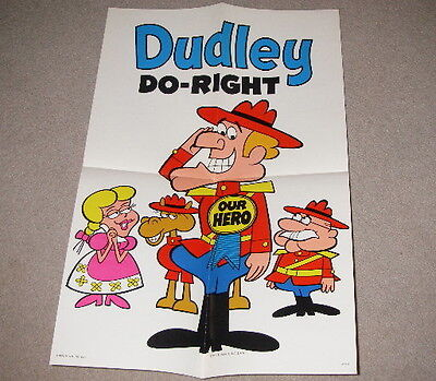 Dudley Do-Right posters lot (2 posters) General Mills Inc. 1970 1971 Our Hero