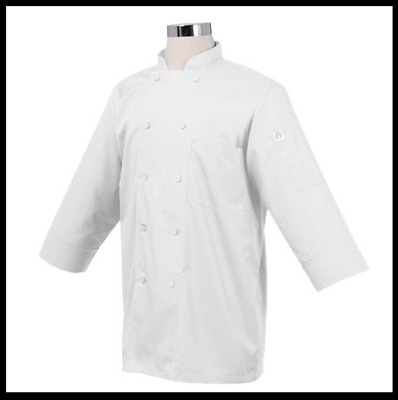 Chef Works 3/4 Sleeve Chef Coat Jacket, 2XL, NEW **FREE shipping**