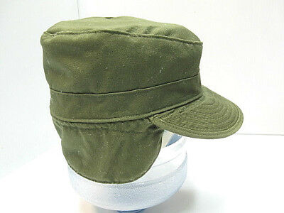 Military hat:  PATROL CAP OG-507 with ear flaps; rare; Size 7; PROPPER INT'L INC