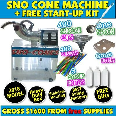 Sno Cone Machine Snow Cone Shaved Ice Machines Business NEW