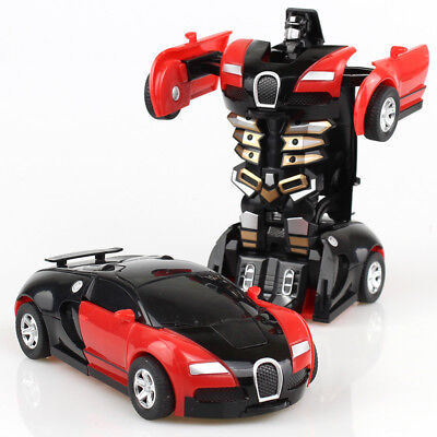 New Bugatti Figure Transformers Robot Cars Toys Deformation Kids Pocket Toy Gift