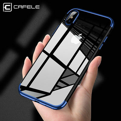 For iPhone X Edition Case Electroplate Clear Soft TPU Hybrid Slim Covers CAFELS
