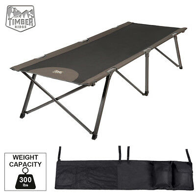 Timber Ridge Deluxe XL Heavy-duty Folding Camping Cot Bed With Carry Bag Outdoor