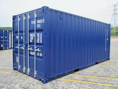 Shipping Containers 20 Ft Ral5013  Blue- 2017 Kent Depot Now