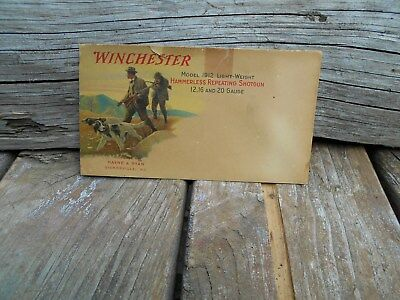 Winchester Model 1912 ENVELOPE COVER  VERY RARE VINTAGE