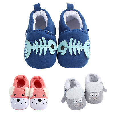 Baby Toddler Cartoon Cotton Non Slip Soft-sole Crib Shoes Sneakers Slippers