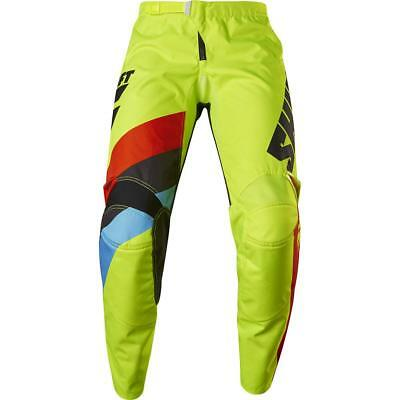 NEW Shift 2017 WHIT3 Tarmac FLO Yellow Pants from Moto Heaven