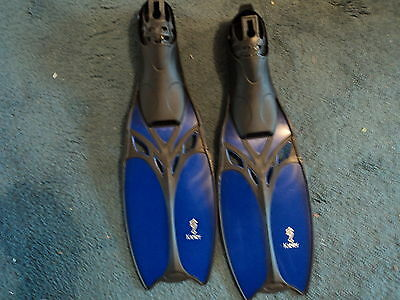 Kiefer Marin Fin Blue Eu 37-38 Swimming Snorkelling Flippers  New