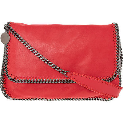 524b166b24d3 STELLA MCCARTNEY Red Falabella Chain TShoulder Bag Tote Clutch New Authentic