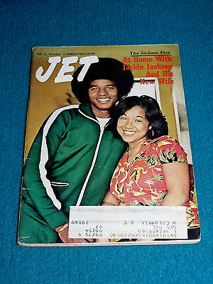 JET MAGAZINE Feb.13, 1975 : Jackie Jackson @ AT HOME with NEW WIFE : JACKSON 5