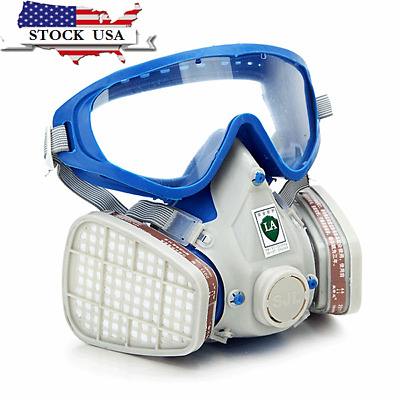 Silicone Full Face Respirator Gas Paint Mask Goggles Chemical Pesticide Mask Dus