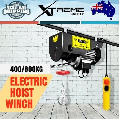 New 400/800KG 1300W 240V 15M Rope Electric Hoist Winch Pro Lift Crane Power Tool