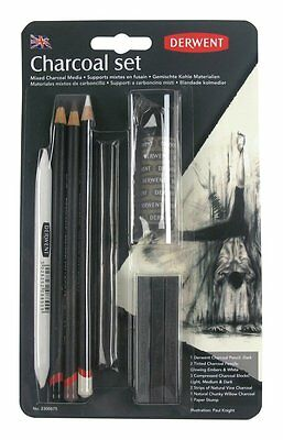 Derwent Charcoal Set of Pencils, Blocks & Sticks for Drawing & Sketching