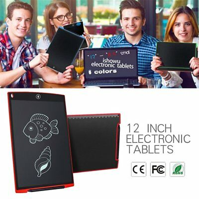 """12""""Creative LCD Writing Pad Notepad Electronic Drawing Tablet Graphics Board WS"""