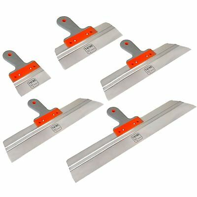 Stainless Taping, Filling Knife. Drywall Plastering Rendering Spatula, SET 5pcs