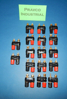 Lot of 17 Black and Red Binding Terminal Posts
