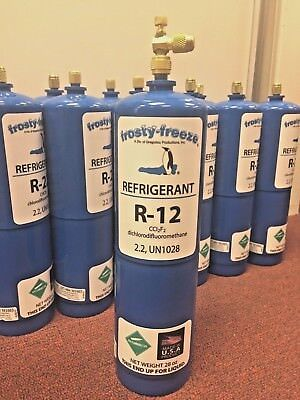 R12, Refrigerant 12, Virgin Pure R-12, 28 oz. Includes On/Off Valve, 1.75 lbs