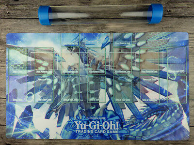 YuGiOh Blue-Eyes Chaos MAX Dragon Custom Playmat Master rule 4 Zones Free Tube
