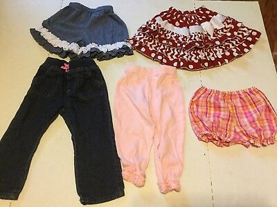 Lot Of Baby Girl 24 Month Girls Bottoms Skirt Pants Boutique All Seasons Cute