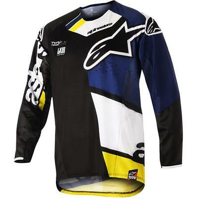 NEW Alpinestars 2018 Techstar Factory Black/Navy Jersey from Moto Heaven