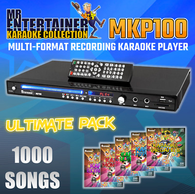 Mr Entertainer MKP100 Karaoke Machine Player + 1300 SONGS! CDG/DVD/MP3G/USB/HDMI