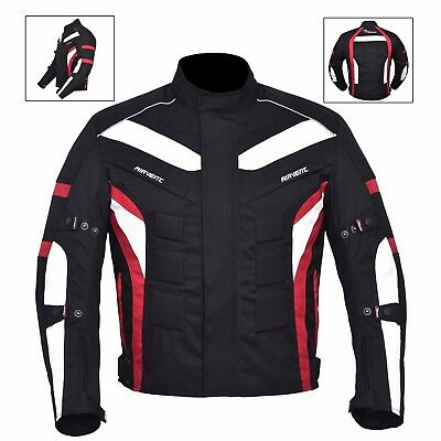 Red & Black Men's Waterproof Genuine Cordura Motorbike Jacket CE Armour