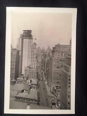 8/18/29 Broadway & 38th St Manhattan NYC Construction Vintage Original Photo U2