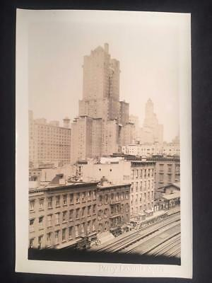1930s 46th St & 3rd Ave Railroad Manhattan NYC Old Vintage Original Photo T49