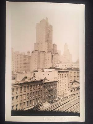 9/5/28 3rd Ave & 46th St East Manhattan NYC Railroad Vintage Original Photo U32