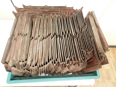 Lot Of 58 Antique Tin Reclaimed Ceiling Tiles 9X14 Red 40Lbs No Rust