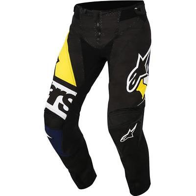 NEW Alpinestars 2018 Techstar Factory Black/Navy Pant from Moto Heaven