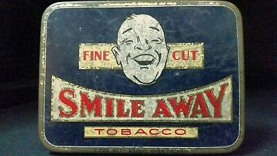Smile Away tobacco tin G.G. Goode Ltd. Melbourne Australia  c1931.