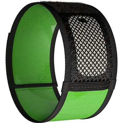 Mosquito Repellent Bracelets No Spray DEET-FREE + 2 Repellent Refill Black Green