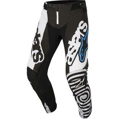 NEW Alpinestars 2018 Techstar Venom Black/White Pant from Moto Heaven