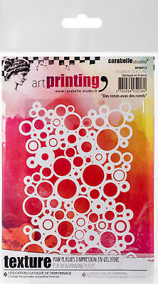Circles AP60022 Carabelle Studio Art Printing A6 Rubber Texture Plate