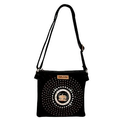 Betty Boop Rhinestone Double Compartment Envelope Bag by Sharon Black KF-4002