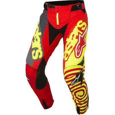 NEW Alpinestars 2018 Techstar Venom Red/Yellow Pant from Moto Heaven