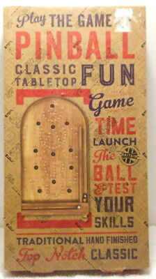 Wooden Tabletop Pinball Game, Professor Puzzle Classics, Directions Included