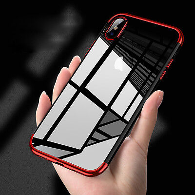 Luxury Transparent Ultra-Thin Slim Case Cover Back Skin for iPhone 8 Plus/7 6s/X