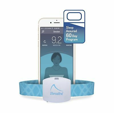 2breathe Plus Sleep Inducer - Smart Device and Mobile App with a Personal Coa...