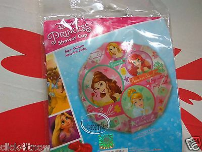 Disney PRINCESS Shower Cap hat bathroom hair care ladies girls kids BATH