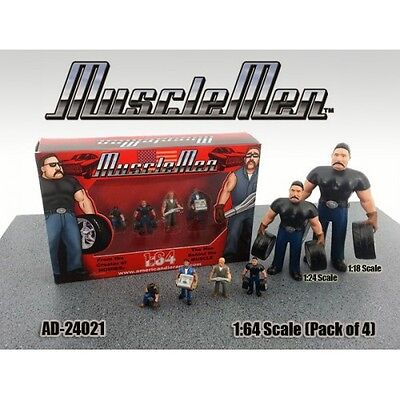 Musclemen Series -Set of ALL 4 figurines  - 1/64 scale figure - AMERICAN DIORAMA