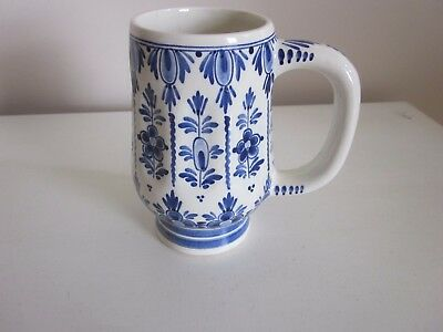 Delft Blue Mug  hand painted  made in Holland #115