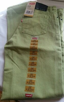 "Levi's 510 Skinny Cane Green Size 20 Jeans 30"" x 30"" New With Tags SHIP FREE"