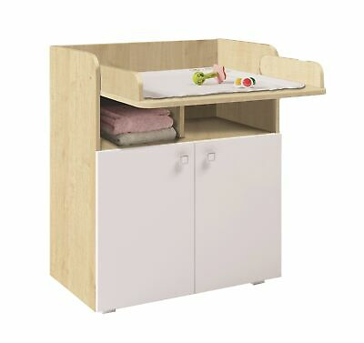 Polini Kids Baby Wickelkommode Wickeltisch Simple 1270 ahorn weiß 1270, 1316.50