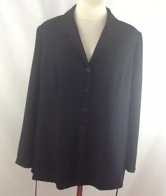 Mimi Maternity Blazer Womens Size Large Navy blue Career Business Jacket