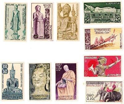 Laos stamps, buddhism 1957 mh