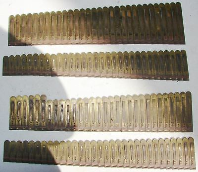 122 Brass Reeds from Kimball Pump Organ Antique Parts Repair Crafts Repurpose